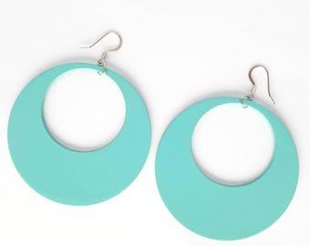 Weightlesswood, hoop earrings, wood earrings, lightweight, trendy,stylish