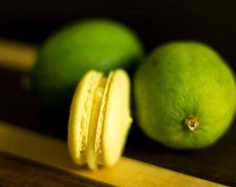 Key Lime Pie French Macarons