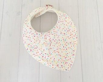 Sprinkles Baby Bib, Dribble Bib, Teething Baby, Feeding Bib, Baby Bib, Confetti,