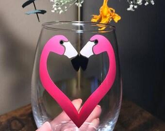 Lovebirds Wine Glass