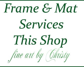 Frame And Mat Services-Let Us Create Your Art Display