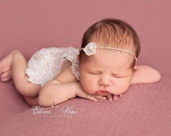 Newborn Tieback, Newborn Props, Newborn Headband, Photo Prop, Headband, Bow Headband, Baby Prop, New Born Photo Prop