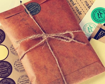 Brown envelopes printed 10 pieces in old style