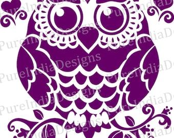 Owl svg, Owl Design, Cutout, Vector art, Cricut, Silhouette Cameo, instant download, Digital Cut, Print Files, Svg, DXF, EPS, Wall Decals
