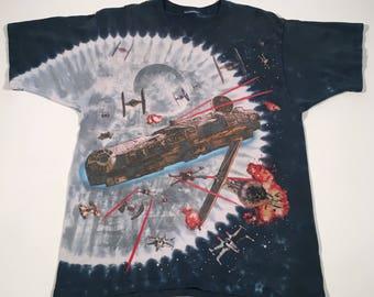 90s vintage Star Wars tie dye t shirt