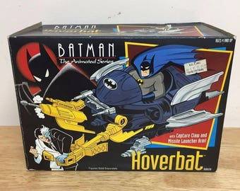 Kenner Batman The Animated Series Hoverbat, Vintage and Rare, With Box, 1992!
