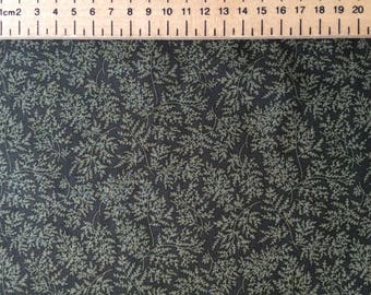 High quality cotton print printed in Japan, green leaf print