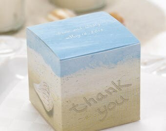 Personalized Seaside Jewels Favor Boxes