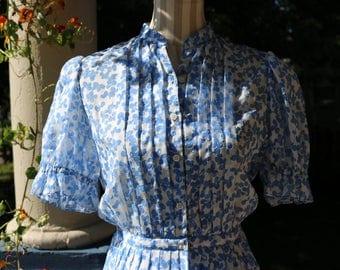 50s Cornflower Blue Dress