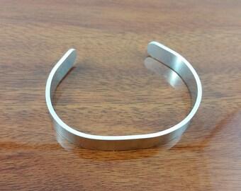 Narrow Aluminium Cuff Bracelet; unisex, for him or her