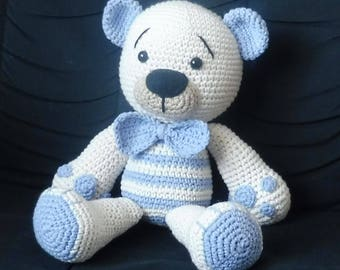 Crocheted amigurumi bear