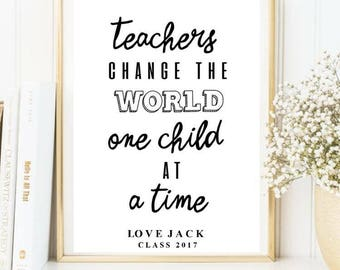 Teacher quote print