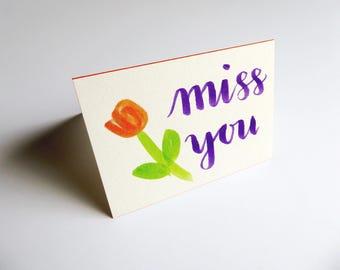 Miss You Card    Card & Envelope Set