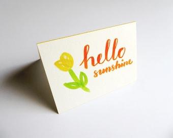 Hello Sunshine Card || Card & Envelope Set