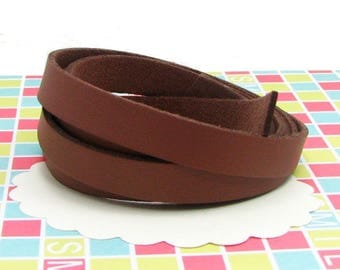 2 m faux leather 10 mm Brown CP39 lace