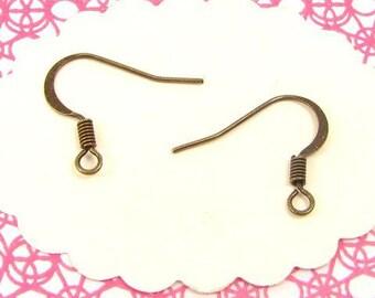 24 AB49 bronze earrings hooks