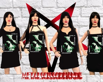Type O Negative - Christian Woman Mini Dress , 4 Different Dress Styles, Choose yours!