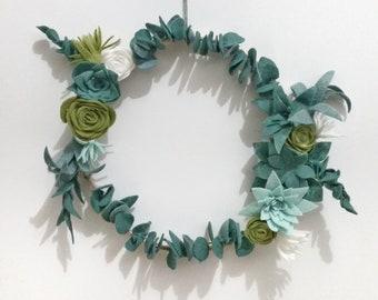 2 eucalyptus wreath