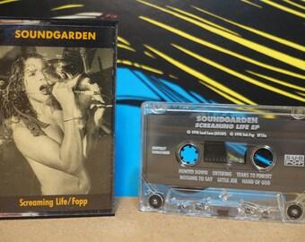 Screaming Life / Fopp by Soundgarden Vintage Cassette Tape