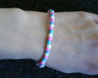 LoliRosa Summer Glass Seed Bead Stretch Bracelet