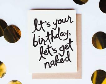 Naked Birthday - greeting card // Kinship Letterpress