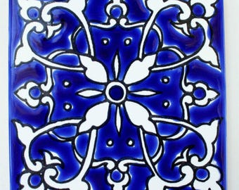 Blue and White Mediterranean Tile