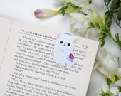 Alpaca - Magnetic bookmark || llama, happy planner, literary gift, paper clips, book lover, planner bookmark, animal, planner clips