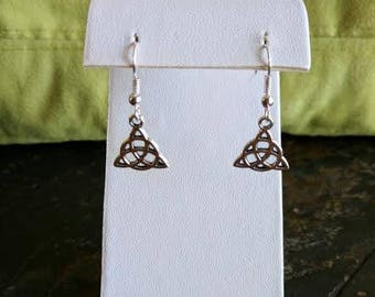 triquetra symbol dangle earrings
