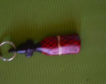 African Maasai Wooden KeyChain | African KeyHolder | Handbag Tassel Keychain | Car Keychain| Gift Her|Gift For Him