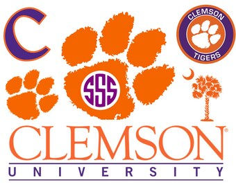 Clemson svg, Clemson Tigers svg,  svg, dxf, cricut, silhouette cutting file, instant download, svg files