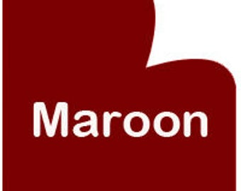 Maroon HTV Heat Transfer Vinyl for Shirts, Crafts and More! Crimson Burgundy Thermoflex Plus HTV