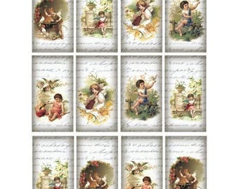 1 sheet of 21 x 28 cm Angel 532 collage decoupage rice paper