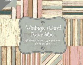 12 papers two pockets Joy Craft 30.5 cm VINTAGE WOOD