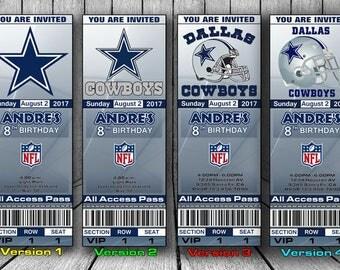 Dallas Cowboys Invitation, Dallas Cowboys Birthday Invitation, Football Invitation, Dallas Cowboys Team Invites
