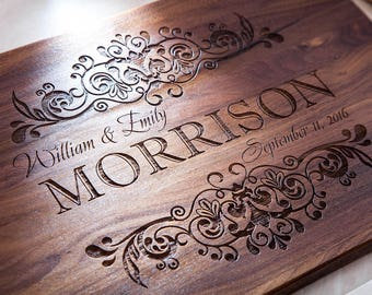 Personalized Cutting Board - Wedding Gift, Engraved Cutting Board, Custom Cutting Board, Housewarming Gift, Anniversary Gift, Home Decor