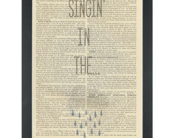 Music lyrics Singing in the Rain Nursery Dictionary Art Print