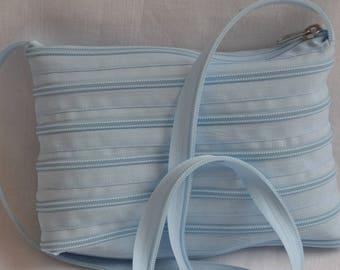 sky blue bag 21 cm x 16 cm, handle-115 cm