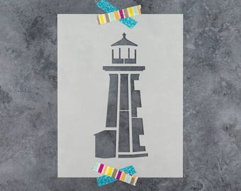 Lighthouse Stencil - Reusable DIY Craft Stencils of a Lighthouse
