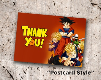 DragonBall Z Thank You Cards *Instant Digital Download*