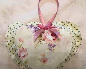 Vintage style hanging heart
