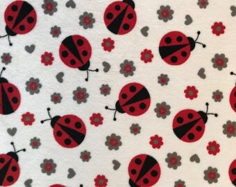 Ladybug Minky Blanket - Baby Blanket - Red and Black - Child Throw - Made to Order Minky Blanket