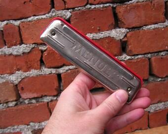 Vintage harmonica MENUET Poland harmonica Retro wind instrument Polish harmonica Children harmonica Vintage musical tool