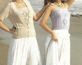 knitting pattern womens ladies cami top cardigan sizes 30 to 38 in double knitting pdf