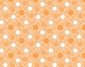 Maywood Studios - Crosshatch Dots in Orange - Berries and Blossoms (8841-O) - Reproduction