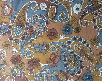Vintage Viyella Fabric  - Paisley - 90 cm Wide - Retro -   Dated  50s or 60s