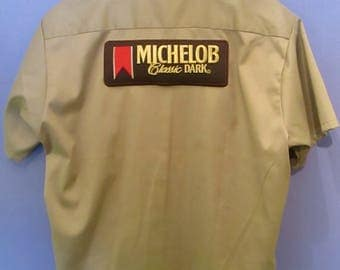 Michelob Men's Button Down Beer Shirt Size L