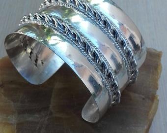 cuff bracelet 925 silver bracelet Silver cuff bracelet boho gift for her birthday gift jewelery sale womens bracelet jewelery mens gift for