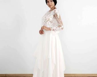 Bridal Skirt, Wedding Skirt ,Floor Length Skirt ,Tulle Skirt, Bridal Separates , Wedding Skirt, Skirt With Train - Octave
