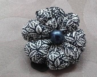 fabric flower Barrette
