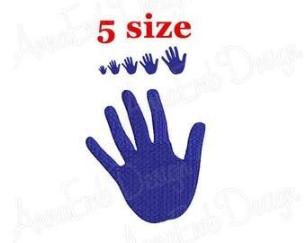 Baby hand embroidery design. Hand Prints Embroidery. Machine Embroidery. Mini Baby hand Embroidery. Mini fill stitch. Filled Stitch Design.